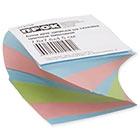 Блок для записей 76х76х45 мм цветной проклеенный Прок спираль